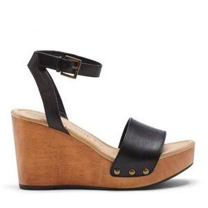 "Sole Society ""Sahara"" wooden platform sandals"